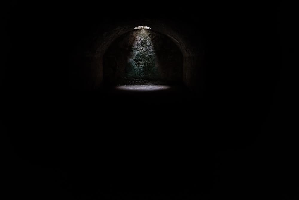 Photo of light at the end of the cave