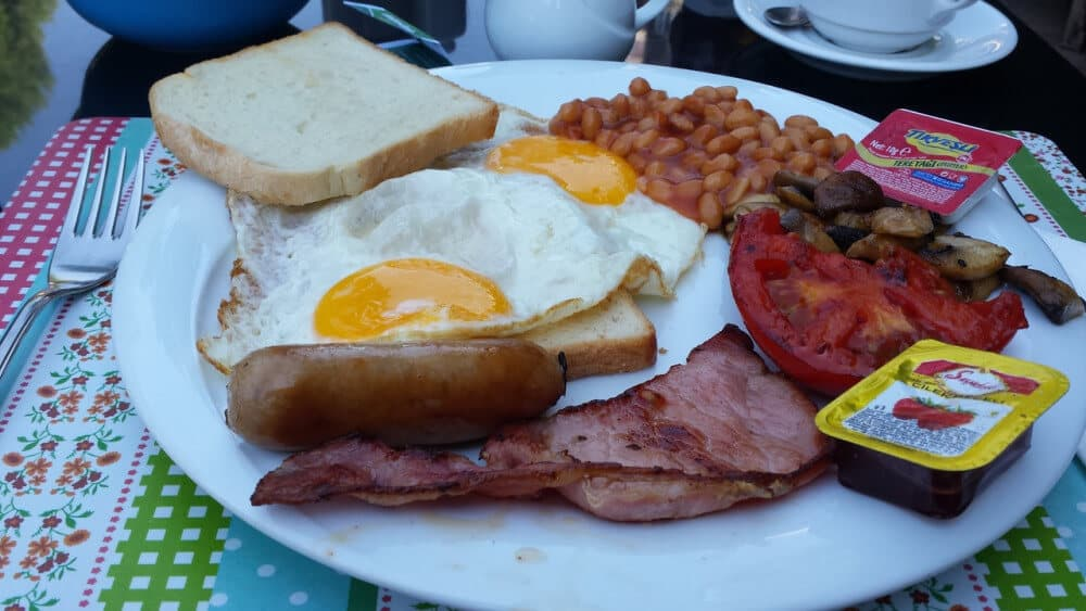 English breakfast or fry up