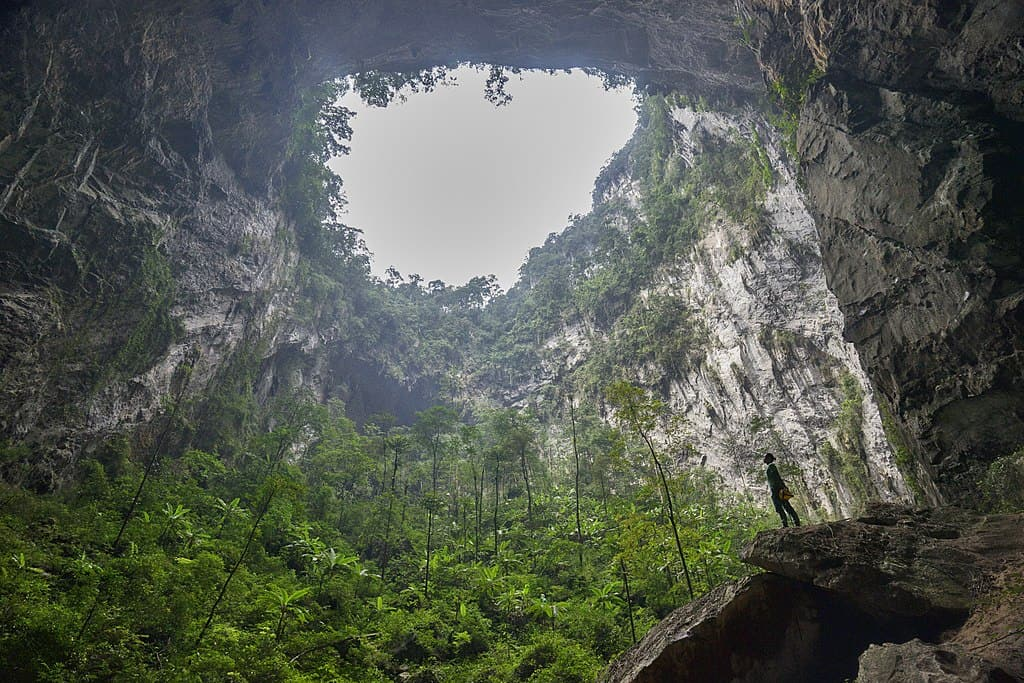 Large opening in ceiling Son Doong Cave