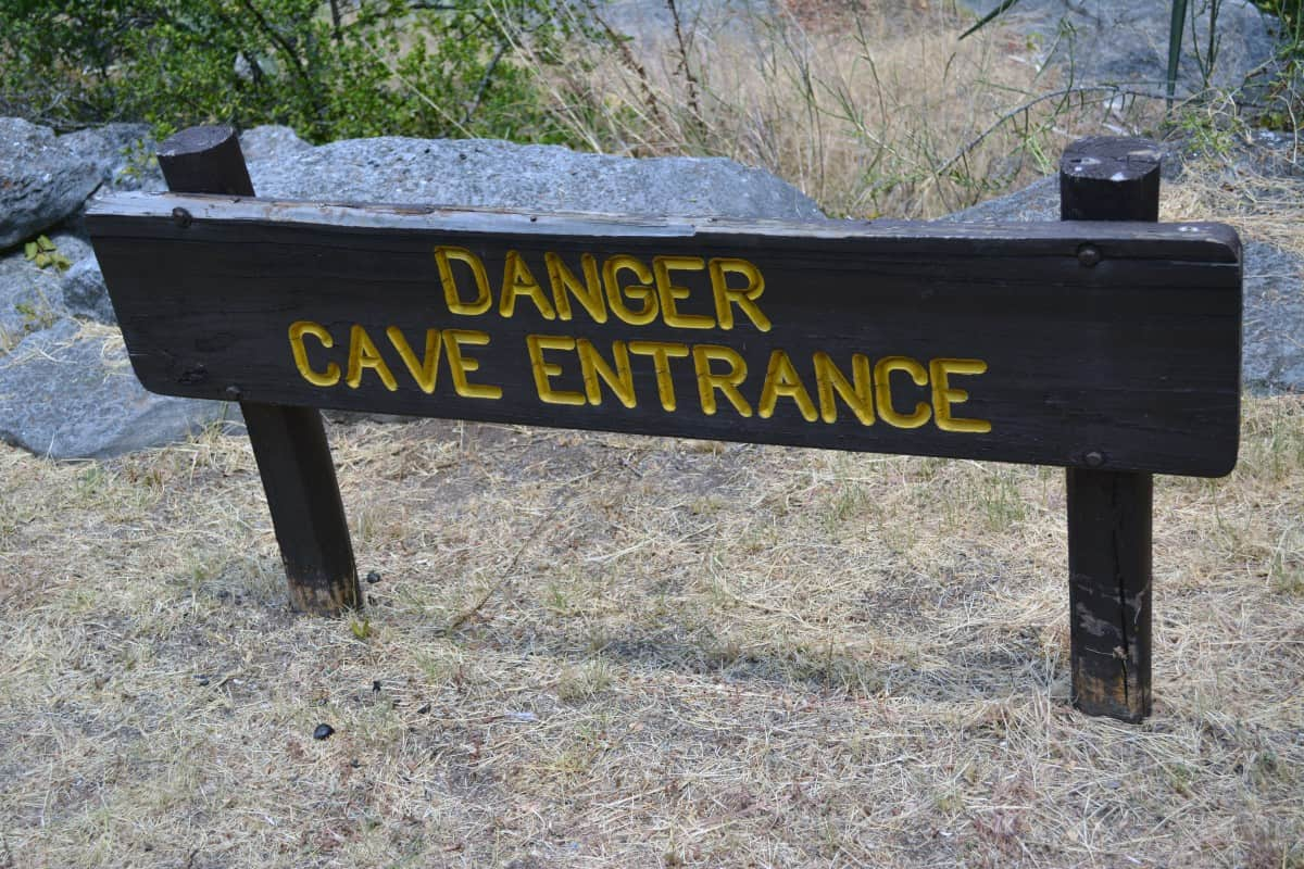 Danger Cave Sign