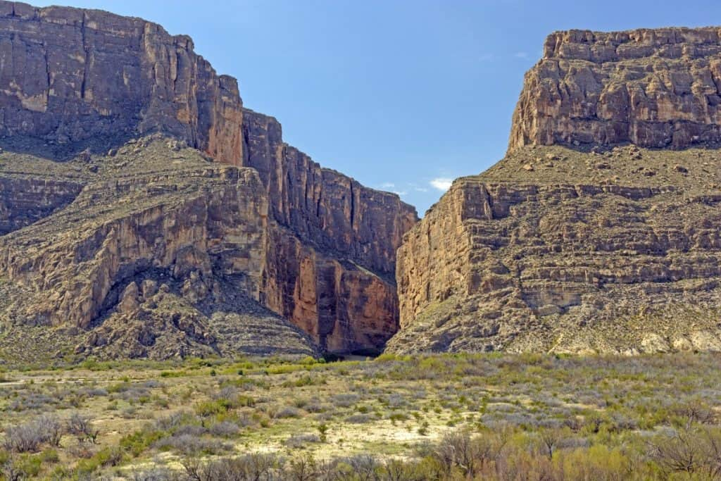 Santa Elena Canyon in Big Bend National Park in Texas